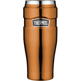 Thermos King Drinkfles 470ml oranje/zilver